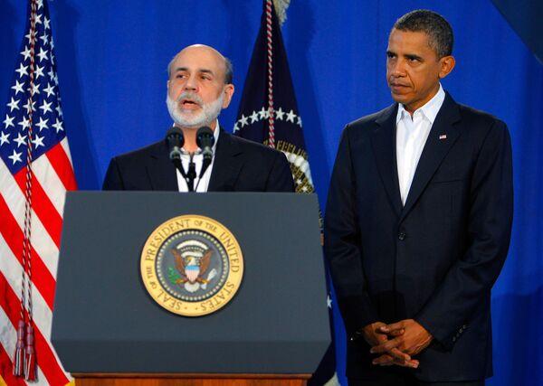 Бен Бернарке и Барак Обама