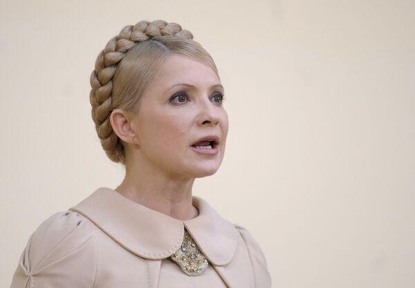 Юлия Тимошенко на пресс-конференции. Архив