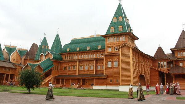 Дворец царя Алексея Михайловича в музее-заповеднике Коломенское. Архив