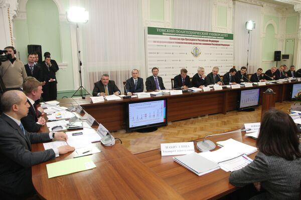 Заседание комиссии по модернизации российской экономики. Архив