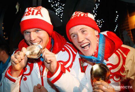 Олимпиада - 2010. Церемония награждения по итогам пятого дня