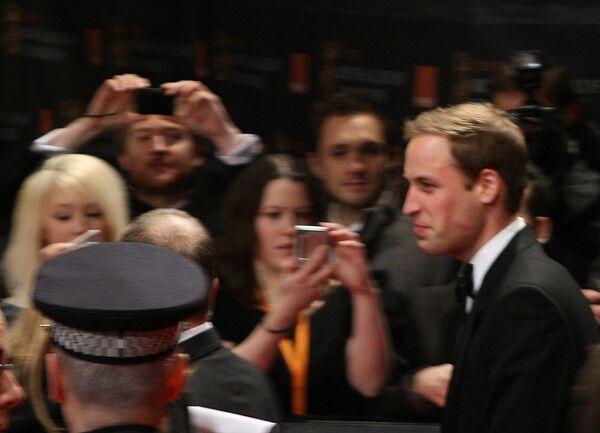 Британский принц Уильям на церемонии вручения наград BAFTA