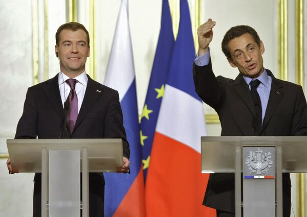 Дмитрий Медведев во Франции
