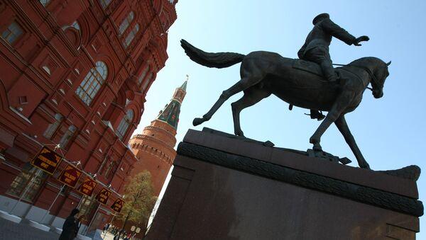 Памятник маршалу Георгию Константиновичу Жукову. Архивное фото
