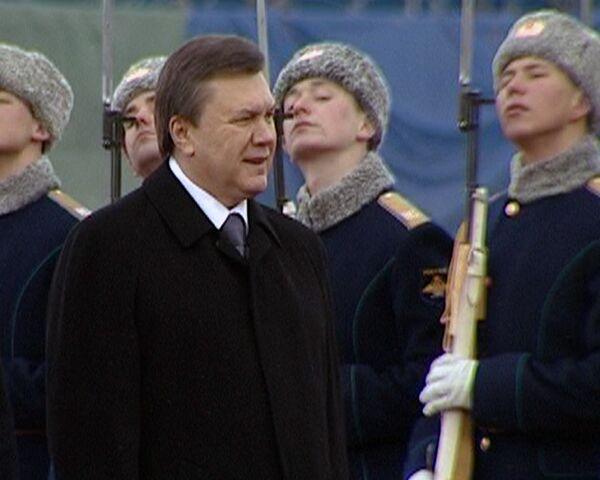 Янукович в Москве. Как встречали нового украинского президента