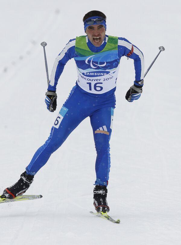 Россиянин Кирилл Михайлов на X Зимних Паралимпийских играх.