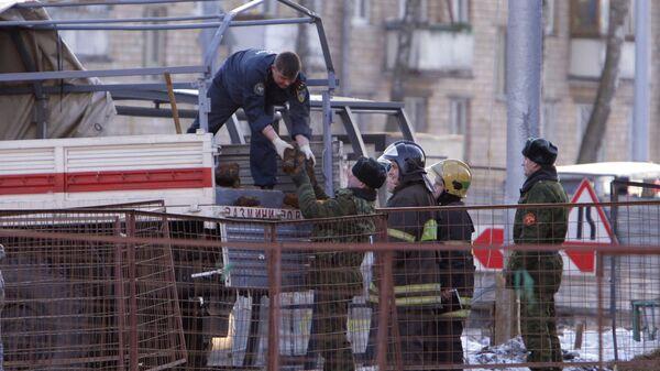 В Москве обнаружены снаряды времен войны