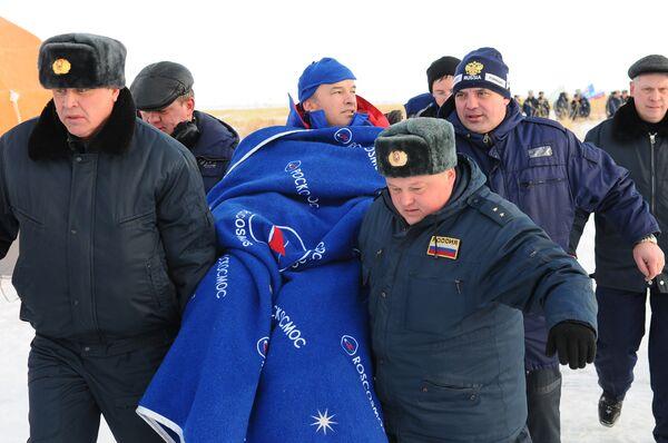 Встреча экипажа корабля Союз ТМА-16