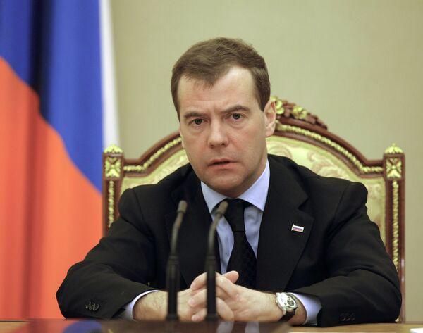 Президент РФ Д.Медведев в Кремле. Архив.