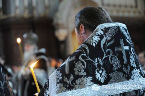 Утреня с чином погребения Плащаницы в Храме Христа Спасителя