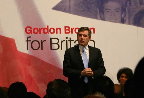 Лидер правящей Лейбористской партии, премьер-министр Великобритании Гордон Браун