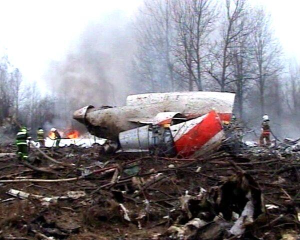 Самолет президента Польши потерпел крушение. Видео с места аварии