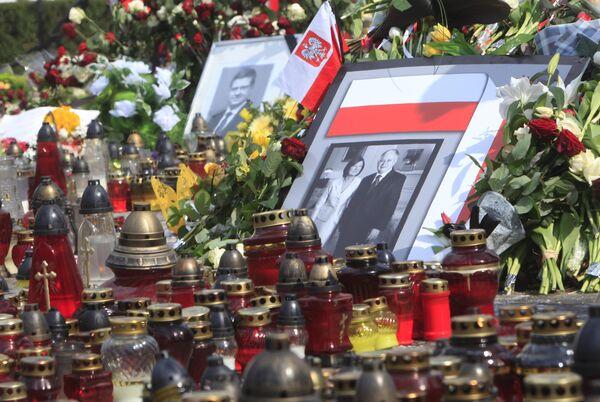 Портрет президента Польши Леха Качиньского с супругой Мирией