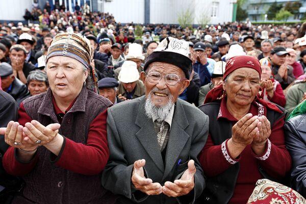 Жители Киргизии. Архив