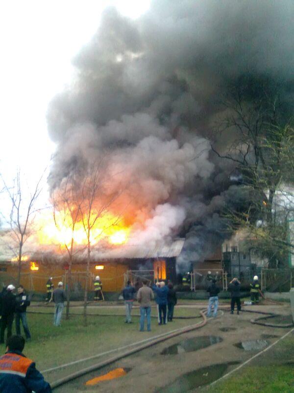 Пожар в Театре зверей им. Дурова