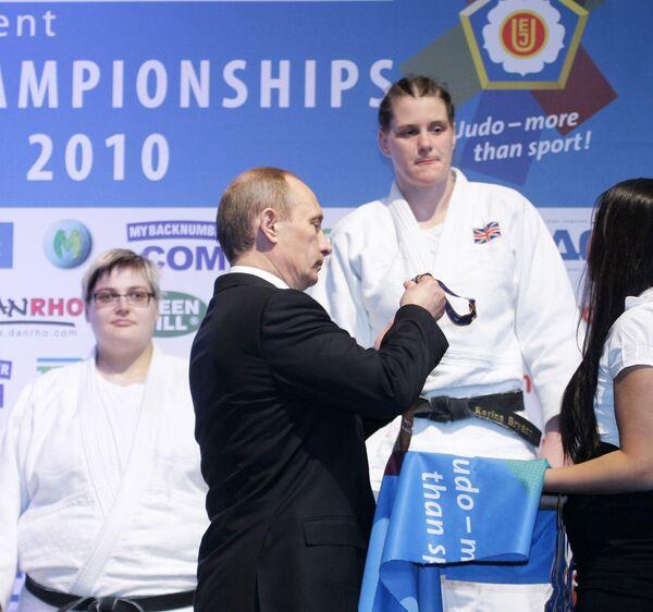 Владимир Путин посетил соревнования чемпионата Европы по дзюдо