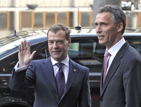 Встреча Д. Медведева с премьер-министром Норвегии Й. Столтенбергом