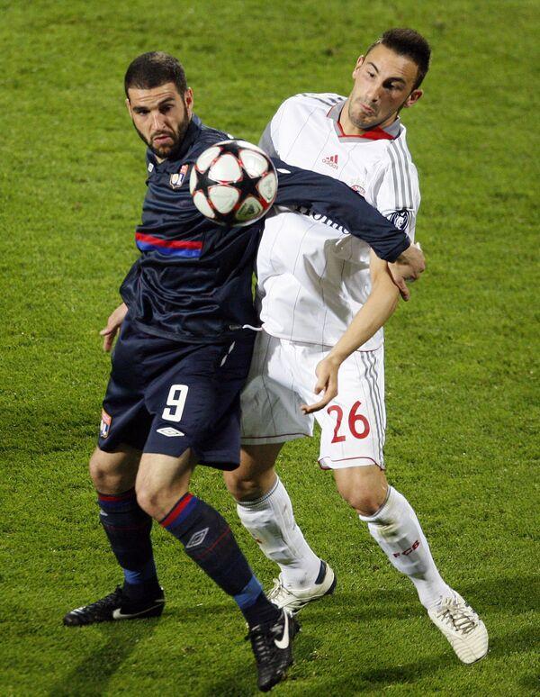 Игровой момент матча Лион - Бавария