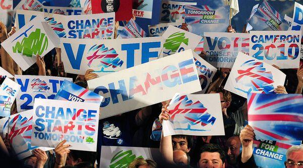 Сторонники консервативной партии в Британии