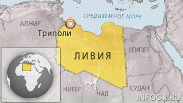 Карта Ливии