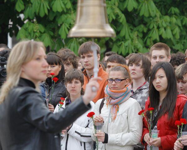 Акция памяти жертв терактов в московском метро