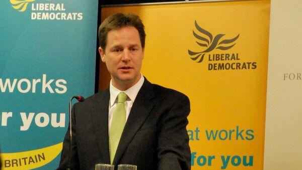 Лидер британской партии либерал-демократов Ник Клегг