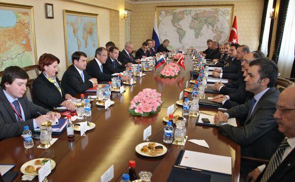 Президент РФ Д.Медведев провел переговоры с премьер-министром Турции Р.Эрдоганом