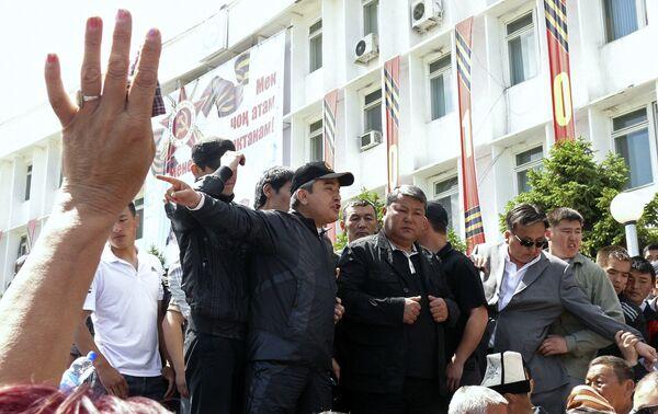 Митинг сторонников Курманбека Бакиева в городе Ош