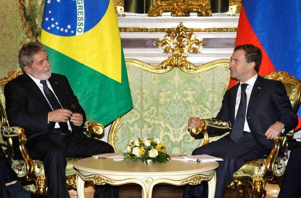 Встреча Дмитрия Медведева и Луиса Инасио Лулы да Силвы