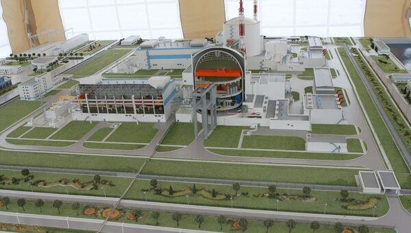 Макет Балтийской атомной электростанции