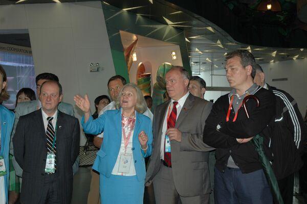 Геннадий Зюганов посетил российский павильон на ЭКСПО-2010