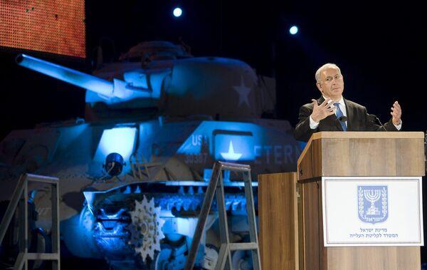 Израиль на высшем государственном уровне отметил 65-летие Победы. Выступление премьер-министра Биньямина Нетаньяху.