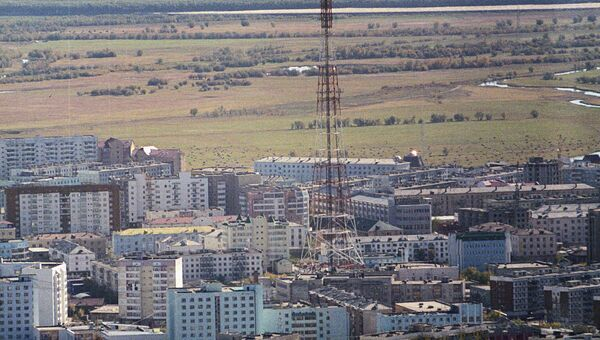 Вид на Якутск сверху. Архивное фото