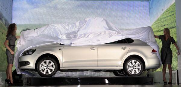 Презентация нового седана марки Volkswagen