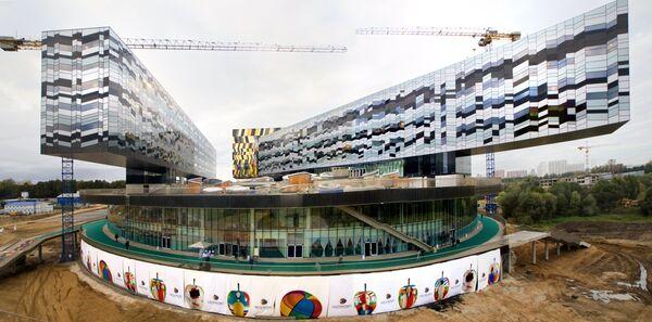 Строительство  здания Московской школы управления Сколково