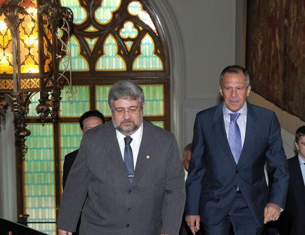 Главы МИД РФ и Парагвая С.Лавров и Э.Лаконьята встретились в Москве