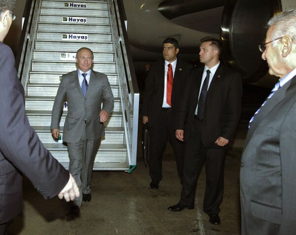 Владимир Путин прибыл с рабочим визитом в Турцию