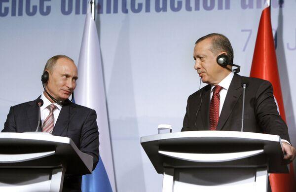 Пресс-конференция Владимира Путина и Реджепа Тайипа Эрдогана