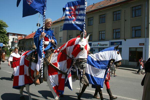 Шествие короля и его свиты из Праги до Карлштейна – королевского замка