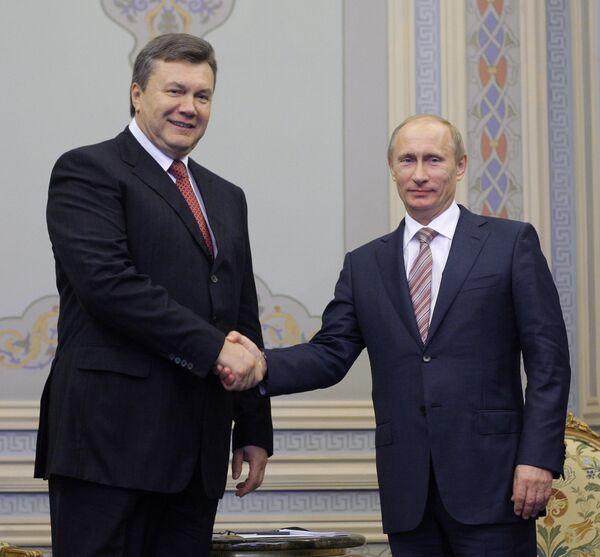 Встреча Владимира Путина и Виктора Януковича