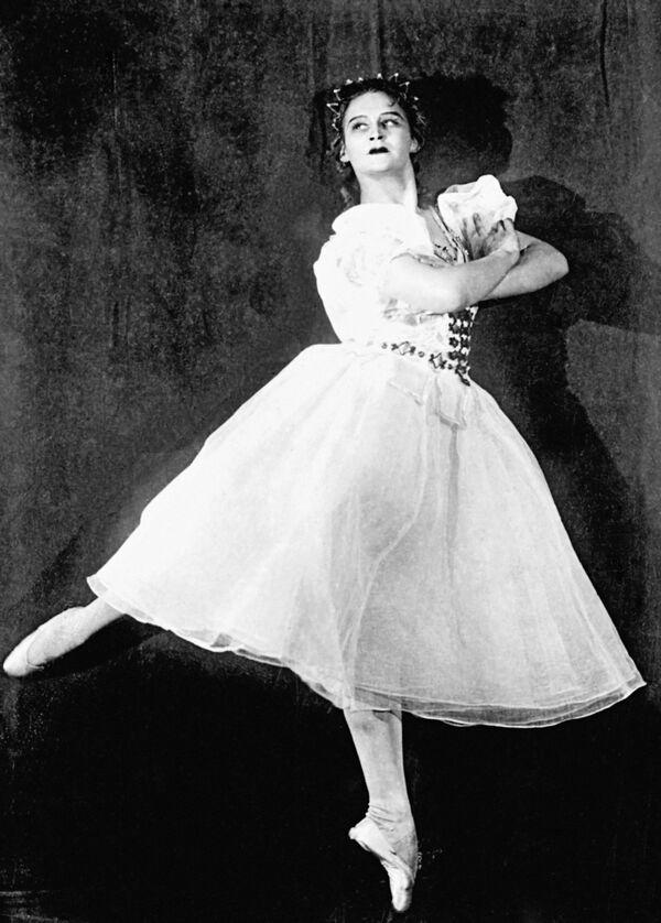 1954 год. Балерина Марина Семенова в балете Тарас Бульба