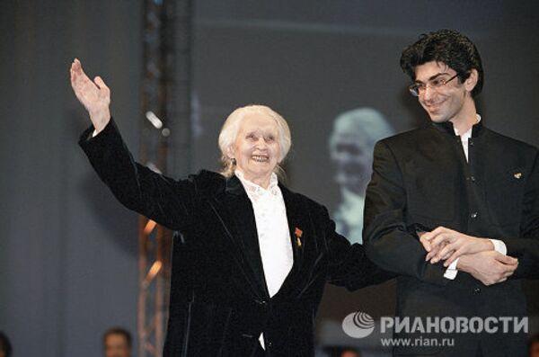 М.Семенова и Н.Цискаридзе на церемонии вручения международной премии Балетный Бенуа