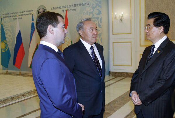 Встреча лидеров стран-участниц ШОС в узком составе