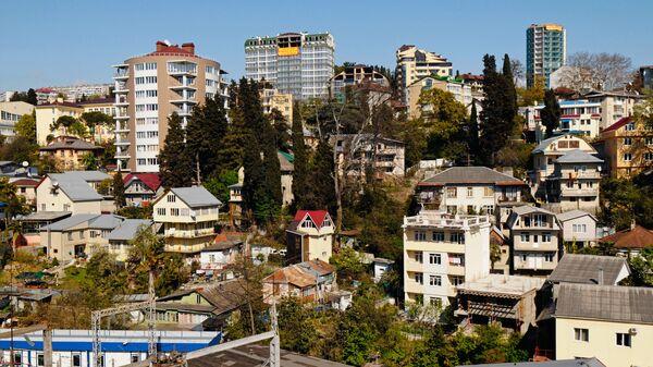 Вид на микрорайон Светлана в Сочи