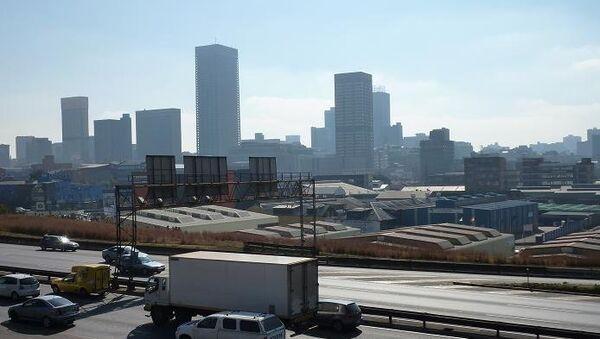 Вид города Йоханнесбург, ЮАР. Архивеное фото