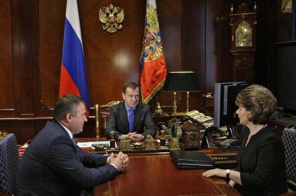Президент РФ Д.Медведев провел ряд встреч 17 июня 2010 г.