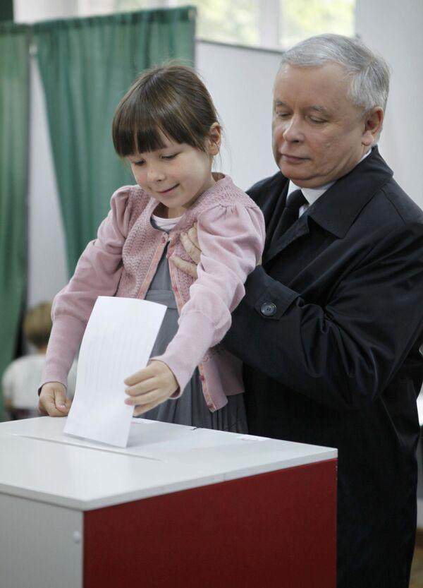 Ярослав Качиньский на выборах президента Польши