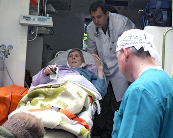 Ирину Антонову, вернувшуюся из Финляндии, встречал реанимомобиль