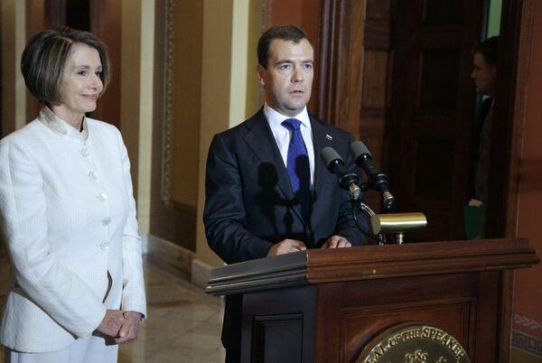 Встреча Дмитрия Медведева и Нэнси Пелоси