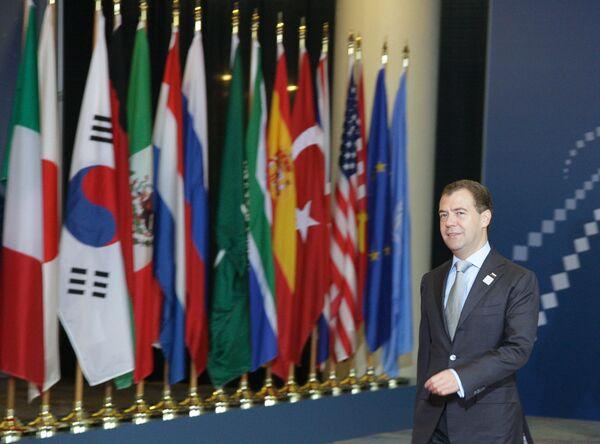 Дмитрий Медведев на саммите G20 в Торонто